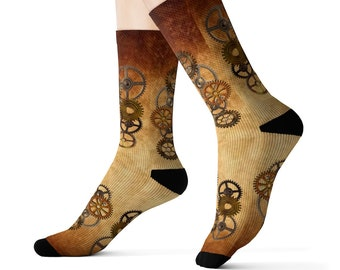 Steampunk Gear Socks