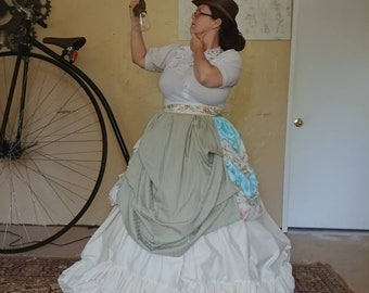 Steampunk Inspired Civil War Style Multi Layered Hoop Skirt