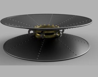 3D Printer STL File for Wild Wild West Movie Inspired Steampunk Metal Collar