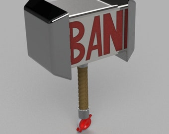 BAN Hammer 3D Print STL file -Troll Hunter Edition-