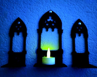 Gothic Arch Architecture Candle holder Digital Files for Laser cutter, 3D Printer, Cricut, ETC.