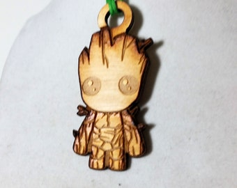 Baby Groot Inspired Necklace