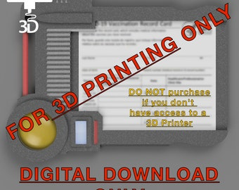 Digital Download (No Physical Object) 3D Printer STL FILE for Multipass Vaccination Card Holder Fifth Element Inspired