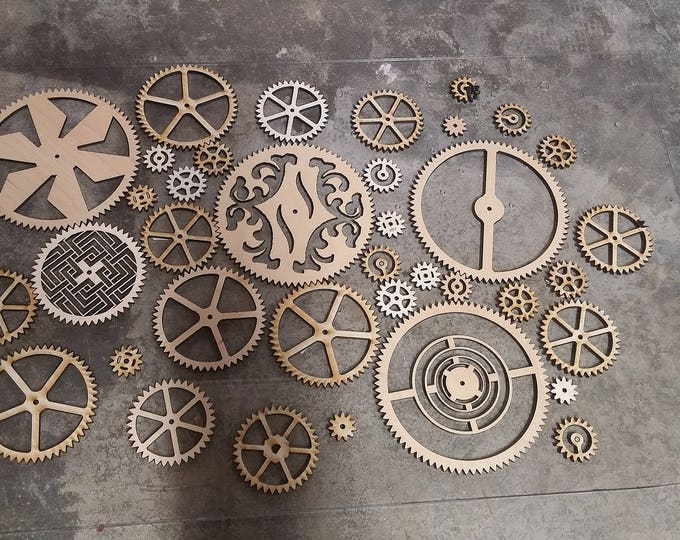 Large Steampunk Elegant Gear SVG Laser Cut Ready File