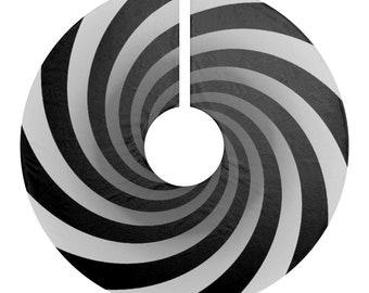 Tim Burton Nightmare Before Christmas Inspired Vortex Christmas Tree Skirt- Hypnotic Spiral