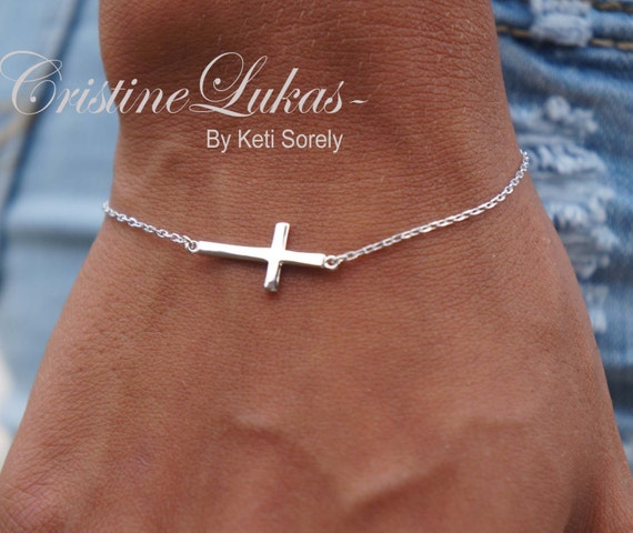 Horizontal Cross Bracelet