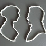 Pride and Prejudice cookie cutter set , 3D printed