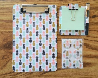 Decorative Papers Organizer Teacher Gifts Classroom Decor Gift for Botanist Botany Clipboard Pretty 6x9 Memo Clipboard