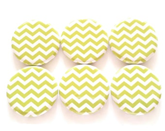 Chevron Magnets, Green Chevrons, Refrigerator Magnets, Farmhouse Decor, Country Decor, Kitchen Magnets, Fridge Magnets, Office, School
