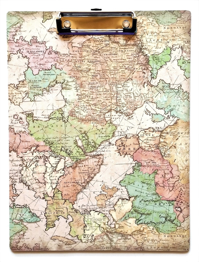 Map Clipboard, Ancient Maps, Old World Maps, Travel Theme, History, Teacher  Office Student Gift Clipboard