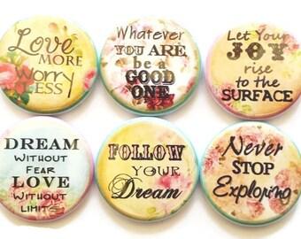 Magnets Inspirational Phrases Christian Magnets Words of Wisdom Motivational Magnets Gift for Women Refrigerator Fridge Magnets, 6/Set