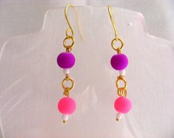 Neon Dangle Earrings