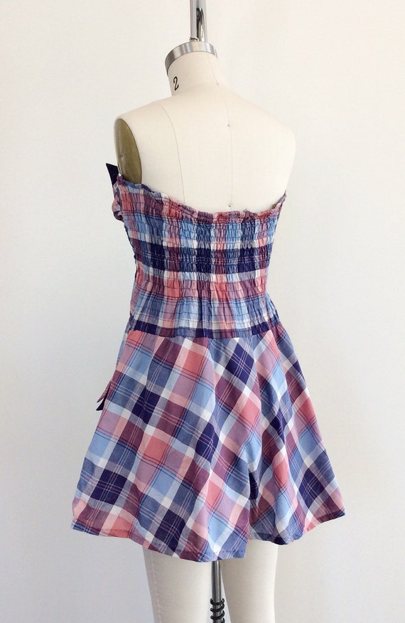 RESERVED on LAYAWAY for SALLY /// 40s Plaid Print… - image 7