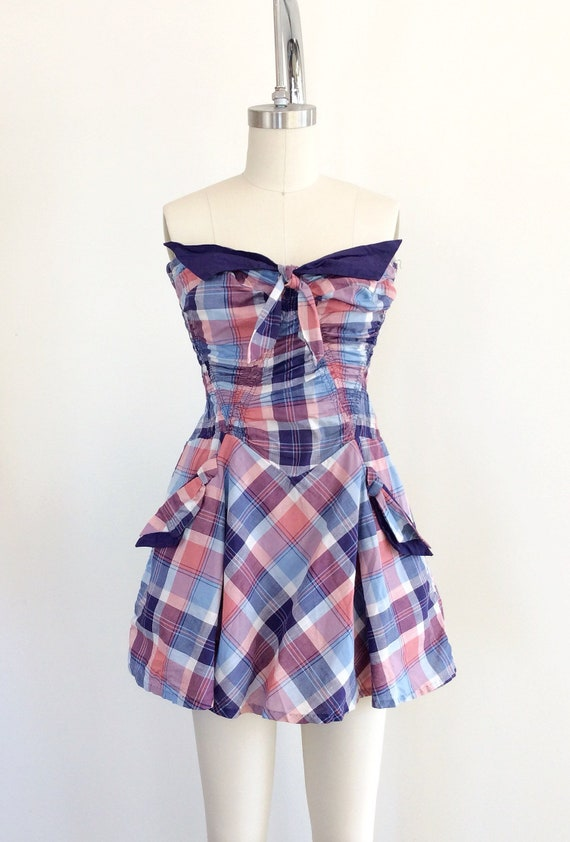 RESERVED on LAYAWAY for SALLY /// 40s Plaid Print… - image 6