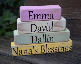 Nana's Blessing Blocks Grandma or Moms Blessing Blocks