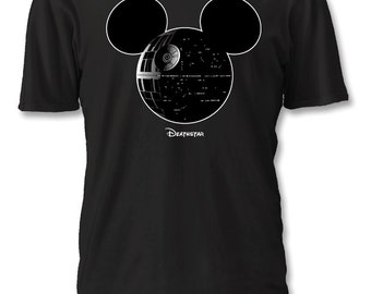 Death Star Mickey Star Wars Disney Shirt : S - 4XL