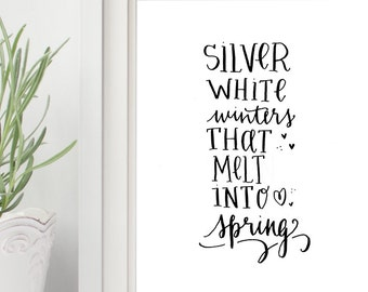 Printable The Sound of Music movie quote My Favorite Things wall art Print - DOWNLOAD