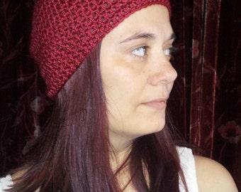 Deep red beanie
