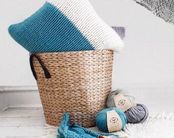 Make Your Own Beginner Masley Cushion Cover Knitting Kit