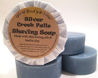 Silver Creek Falls Shaving Soap Cold Process Soap Men's Shaving Soap