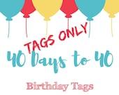 Birthday Countdown Tags
