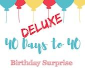 Milestone 40th Birthday Surprise Kit