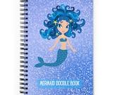 Blue Mermaid Spiral Notebook