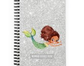 Silver Mermaid Spiral Notebook