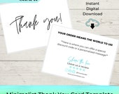 EDITABLE Business Thank You Card Printable Template - Thank You Insert - Poshmark | Etsy | Small Business | Boutique | MLM | Ebay