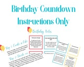 Milestone 40th Birthday Surprise Instructions Birthday Notes - NO TAGS | Tags sold separately