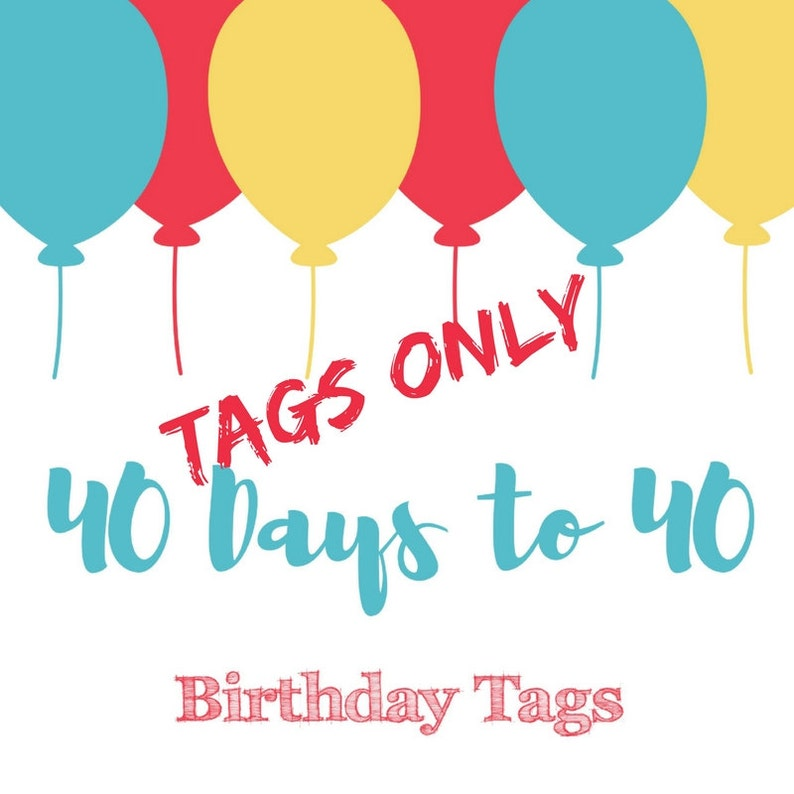 Birthday Countdown Tags image 0