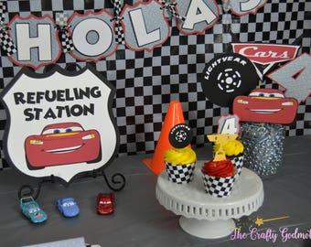Disney Cars Lightning McQueen Birthday Party Door Sign