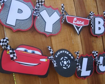 Premium Disney Cars Lightning McQueen Birthday Banner