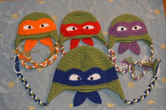 Ninja Schildkröten häkeln Ninja Schildkröte Mütze inspiriert | Etsy