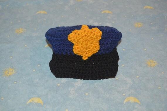 Aduana policía bebé sombrero del ganchillo ganchillo gorra de  e0c8ee3de47