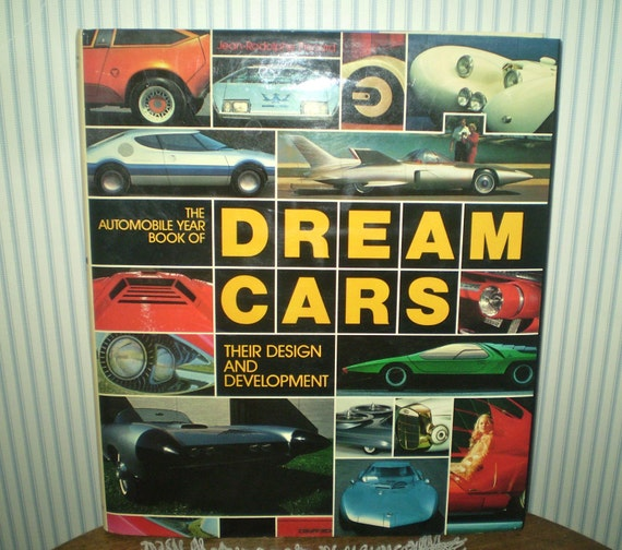 Sale Dream Cars Book Hardback Like New Auto Design Book By Etsy