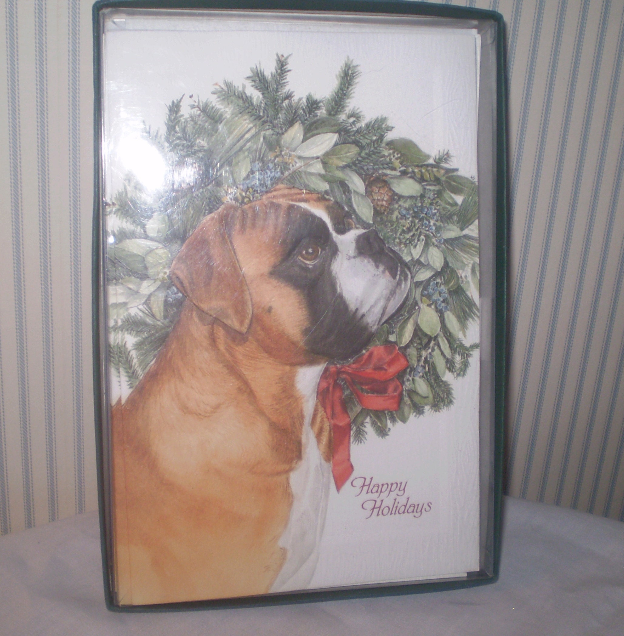 Box of Boxer Christmas cards ASPCA Christmas cards 14 new | Etsy