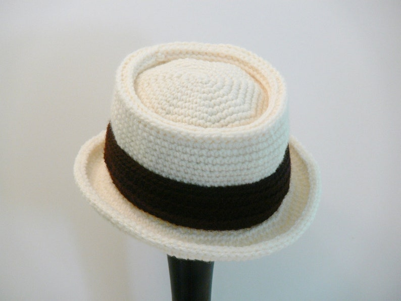 Crochet Pattern Mens Hat New York Pork Pie Hat Summer  6b2d1ccd972