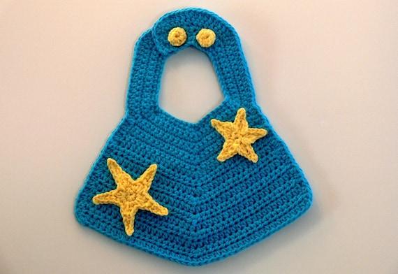 Crochet Pattern Baby Bib Boys Girls Star Flower Car Etsy