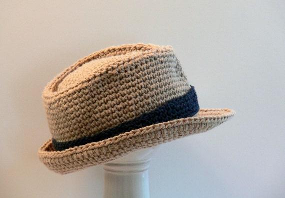 Crochet Pattern Boys Hat Fedora Meadowvale Studio Size Etsy