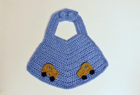 Crochet Pattern Baby Bib Boys Girls Car Star Flower Etsy