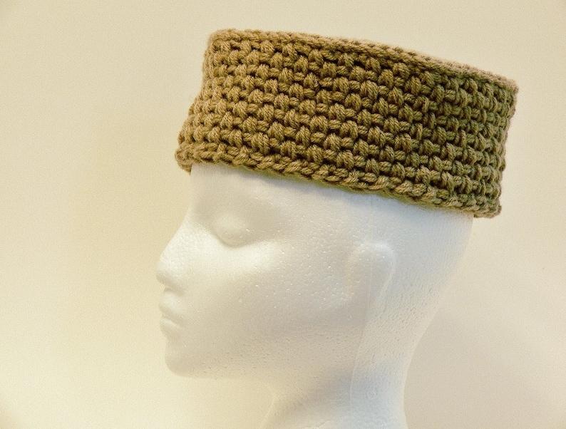 0fa3074e09b Easy Crochet Pattern Mens Hat Pill Box Cossack Chunky