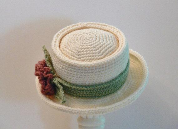 Crochet Pattern Womens Hat Pork Pie Summer Hat Winter  f6ed0184aac