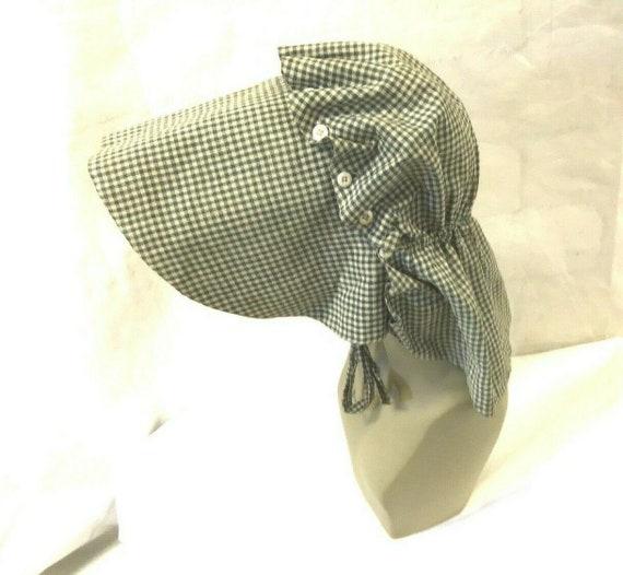 Vtg. Womens Antique Late 1800s Green Bonnet Pionee