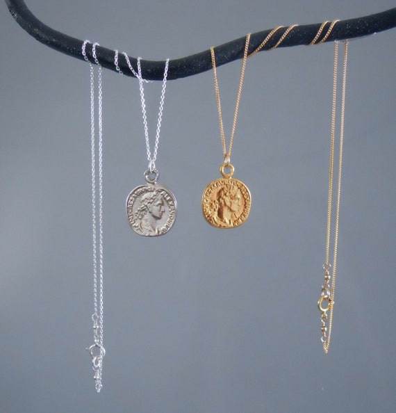 4461209982770 Gold Coin Necklace, Boho Jewelry, Dainty Medallion Necklace, Layering Coin  Necklace, Vintage Coin Pendant Necklace, #275