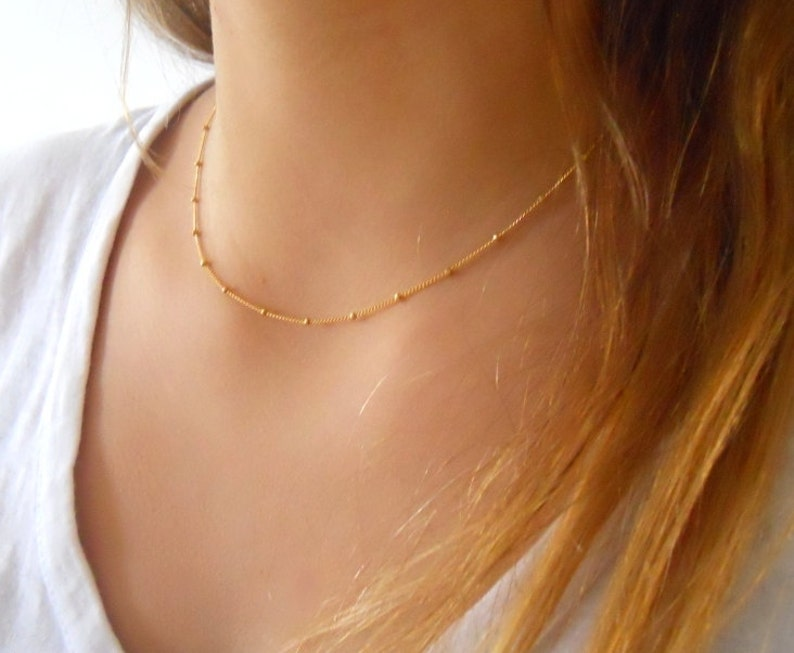 Gold Filled Satellite Necklace
