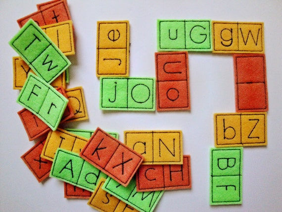 Alphabet Learning Toys : Alphabet letter dominoes educational learning toys in the hoop etsy