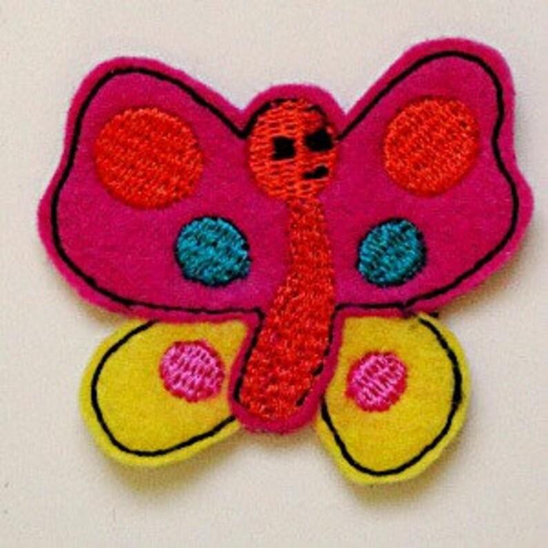 Butterfly Feltie, felt butterfly, machine applique design, ITH design, In  the Hoop applique design, butterfly design, digitial embroidery