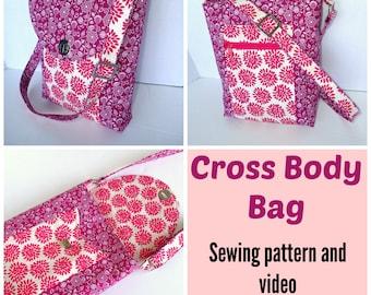 Cross Body Bag - PDF Sewing  pattern
