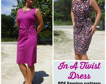 In a Twist Dress  - PDF Sewing  pattern